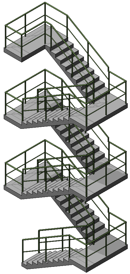 Revit Stairs w Railing