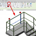 Revit Split Element on Railing